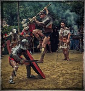 A gladiator school in Rome (photo by Vincenzo Ricciarello, Gruppo Storico Romano)