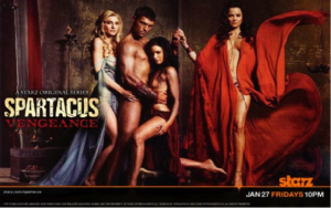 A sexy hero. Poster of Spartacus- Gods of the Arena (2011).