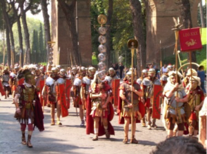 New legionaries' parade in Rome (photo by Marten253).