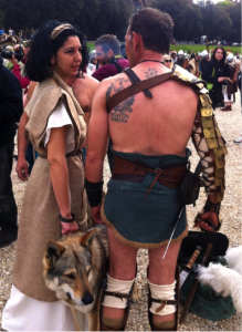 Tattoos and Roman culture. Gladiators at the Birthday of Rome celebration in 2015 (photo by M. Melotti 2
