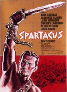 The fight against McCarthyism. Wallpaper of Kubrick's Spartacus (1960).
